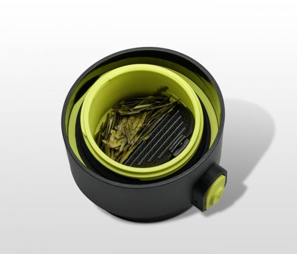 Kubek termiczny z zaparzaczem 350 ml PAO (czarny/zielony)