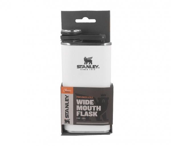Piersiówka STANLEY Classic Easy Fill Wide Mouth Flask 230 ml biały