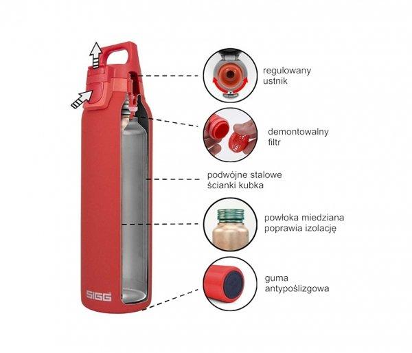 Butelka termiczna SIGG HOT&COLD ONE TOP 500 ml biały