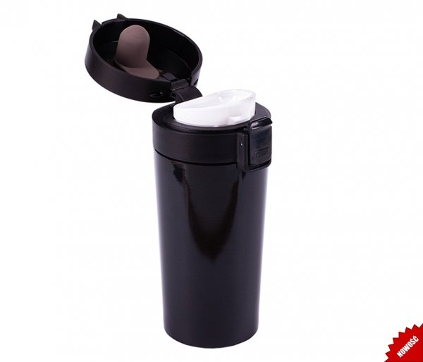 Kubek termiczny ENKI 350 ml szczelny z blokadą czarny