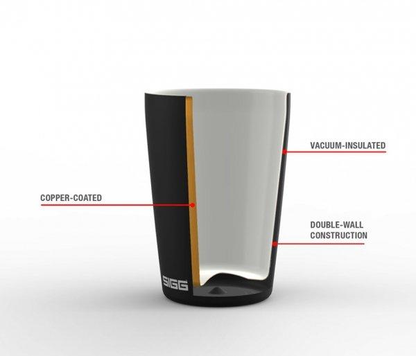 Kubek ceramiczny termiczny Sigg NESO CUP 300 ml turkusowy Creme Glacier