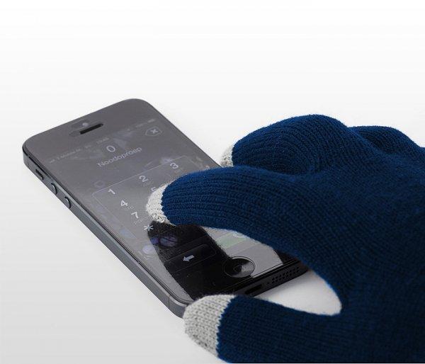 Rękawiczki do smartfona KLIKS (granatowe)