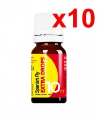10x SPANISH FLY EXTRA DROPS 10ML