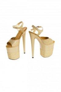Buty- platformy złote błyszczące 36