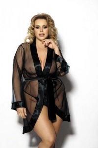 Maerin XXL+ (robe black/szlafrok czarny)