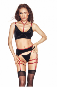 Riho 3pcs S/M (biustonosz,string,pas/bra,string,garter belt)