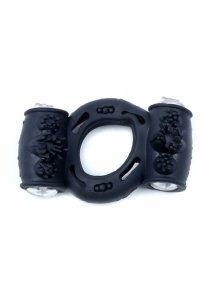 Pierścień-Vibrating CockRing Double Black
