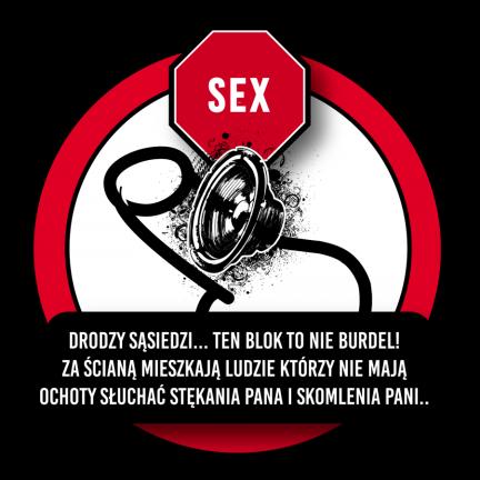 Karne naklejki sąsiedzkie głośny sex 50szt