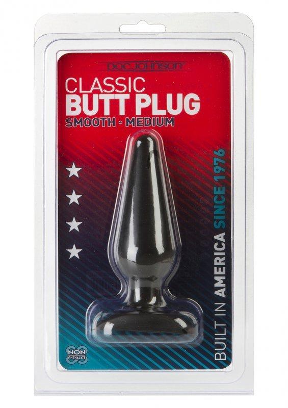 Plug-BLACK BUTT PLUG MEDIUM