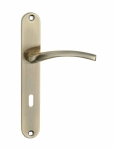 Klamka AGRA do drzwi wewnętrznych na szyldzie długim na klucz KAG_411A