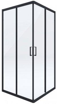 Kabina kwadratowa transparentna FUNKIA NERO 90