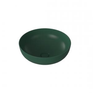 Umywalka ceramiczna nablatowa MOLIS MATT GREEN 38 cm