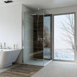 Kabina kwadratowa bezprofilowa 90x90 chrom szkło transparentne z powłoką Clean Glass