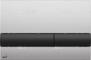 Przycisk chrom-mat/czarny M1712-8