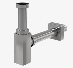 Syfon umywalkowy Ø32 DESIGN metalowy, czworokątny A401