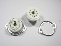 Podstawka GZC9-F 9pin NOVAL do chassis ceramiczna