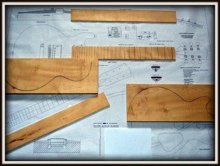 Plan budowy gitary GIBSON LESPAUL DOUBLE CUTS