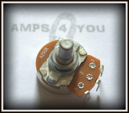 Potencjometr obrotowy logarytmiczny A250k 24mm