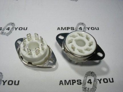 Podstawka GZC8-1-A 8pin OCTAL do chassis ceramiczna