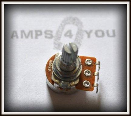 Potencjometr logarytmiczny A500K - 16mm