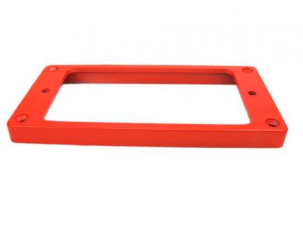 Ramka humbuckera płaska, skośna 7/9mm RED fluorescent
