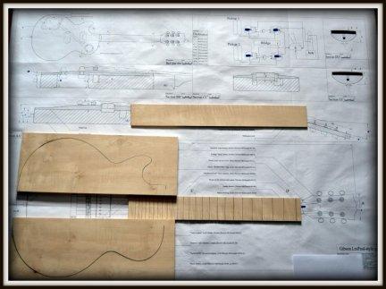 Plan budowy gitary GIBSON LESPAUL