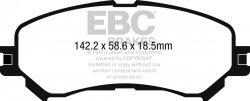 Klocki hamulcowe EBC Greenstuff przód RENAULT Megane Hatch (Mk4) 1.6 TD (Elec H/B) 2016-