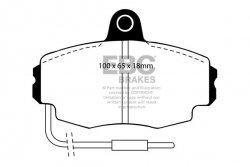 Klocki hamulcowe EBC Greenstuff przód RENAULT Clio (Mk1) 1.8 72mm ABS ring 90-92