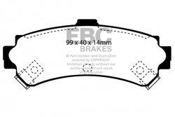 Klocki hamulcowe EBC Greenstuff tył NISSAN Almera 1.6 (ABS) 95-98