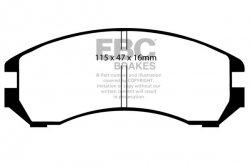 Klocki hamulcowe EBC Greenstuff przód NISSAN Sunny 1.6 LX Coupe (B12) 86-92