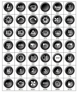 Przycisk / klawisz do klawiatury - panela sterującego ECUMASTER CAN BUS