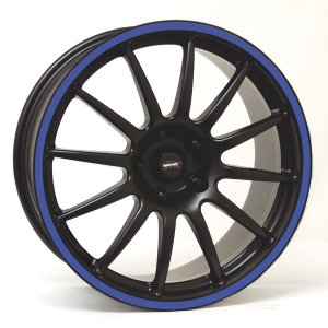 Felga Team Dynamics PRO RACE 1.2S 8x18 czarny z niebieskim