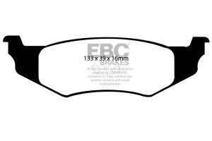 Klocki hamulcowe EBC Greenstuff tył CHRYSLER (USA) Sebring Convertible 2,4 96-2000