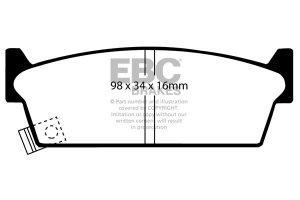 Klocki hamulcowe EBC Greenstuff tył NISSAN 200SX 1.8 Turbo (S13) 91-94