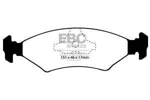 Klocki hamulcowe EBC Bluestuff przód FORD Fiesta (Mk3) 1.3 (ABS) 93-95