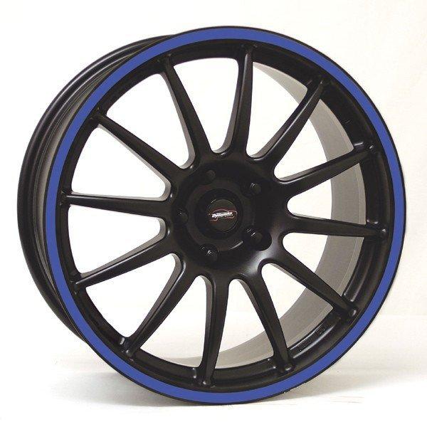 Felga Team Dynamics PRO RACE 1.2S 7,5x17 czarny z niebieskim