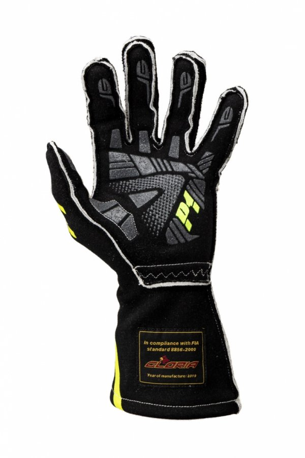 Rękawice P1 Advanced Racewear GRIP2 czarne (FIA)