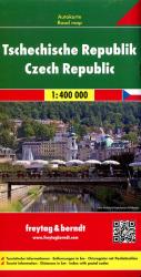 CZECHY MAPA 1:400 000