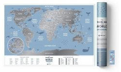MAPA ZDRAPKA ŚWIAT TRAVEL MAP WEEKEND WORLD