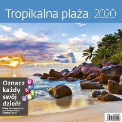 KALENDARZ 2020 TROPIKALNA PLAŻA 30X30