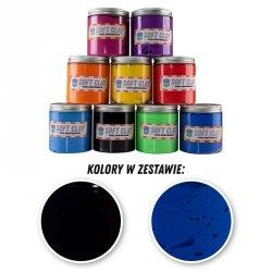 GLINKA ZESTAW 4 - 2 KOLORY PO 100G (NIEBIESKI/CZARNY)