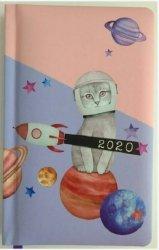 KALENDARZ 2020 FUNNY ANIMALS A6 KOT ASTRONAUTA TNS 35949