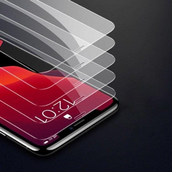 Baseus zestaw 2x szkło hartowane 0.15mm 9H iPhone 11 Pro Max / iPhone XS Max + pozycjoner (SGAPIPH65S-GS02)