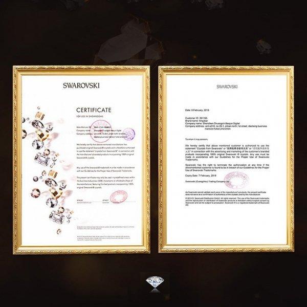 Kingxbar Wish Series etui ozdobione oryginalnymi Kryształami Swarovskiego iPhone 11 czarny