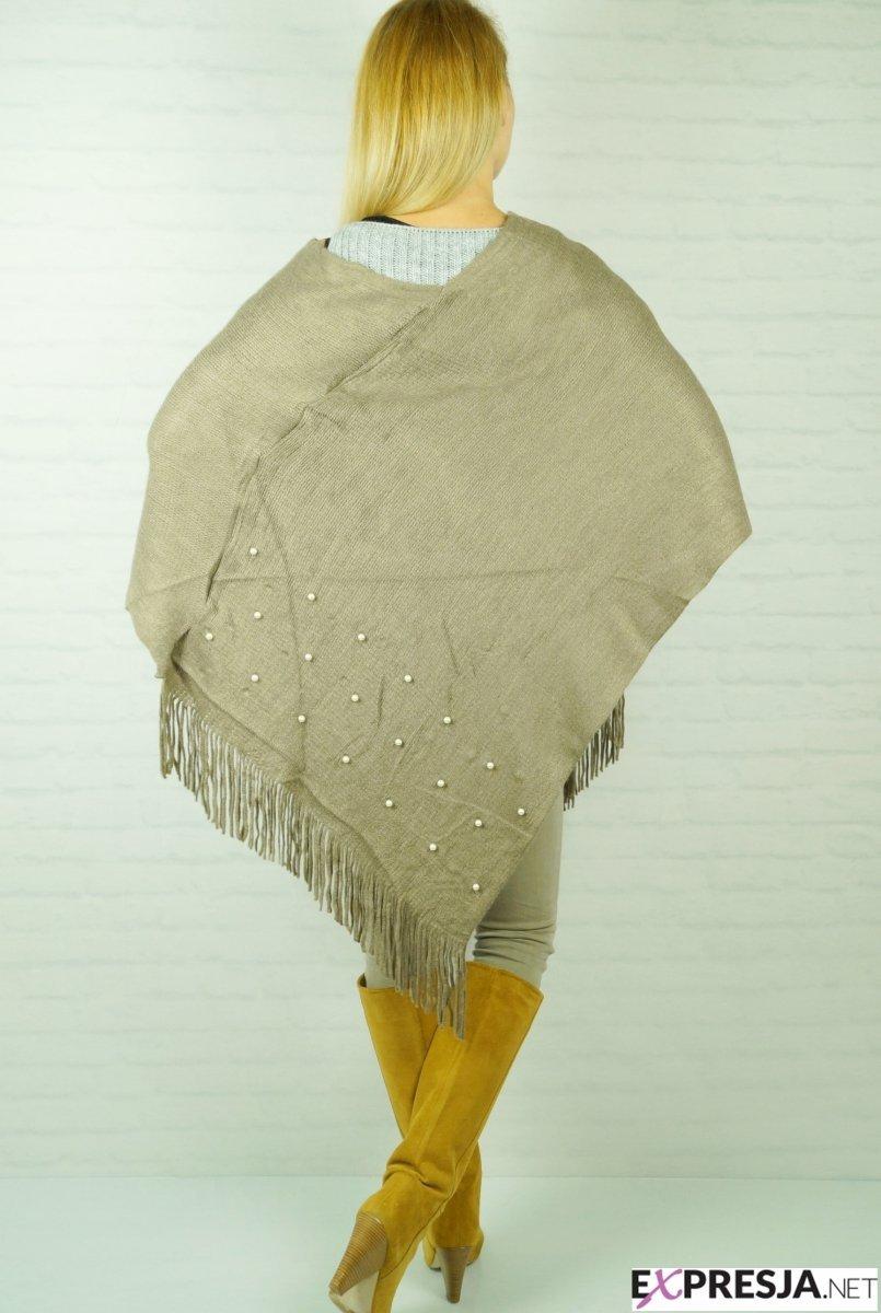 Włoskie Ponczo Kawa z Mlekiem Kurtki Ona stylowe swetry