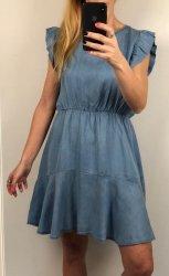 Włoska Jeansowa Sukienka Blue