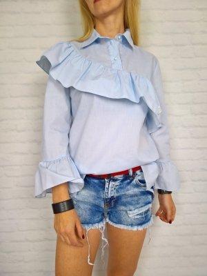 Bluzka Koszula Falbanka Błękit By o la la