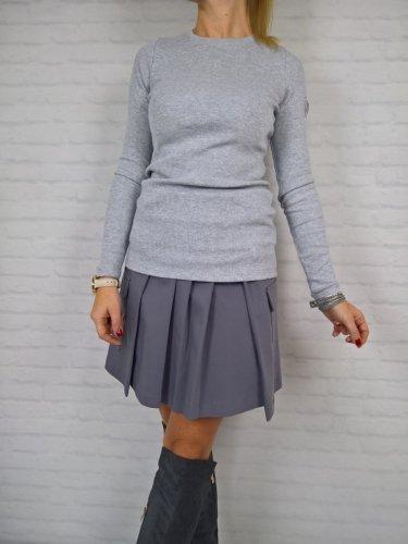 Bluzka Prążek Bawełna Grey