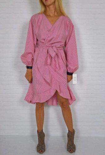 Włoska Sukienka Krata Oversize