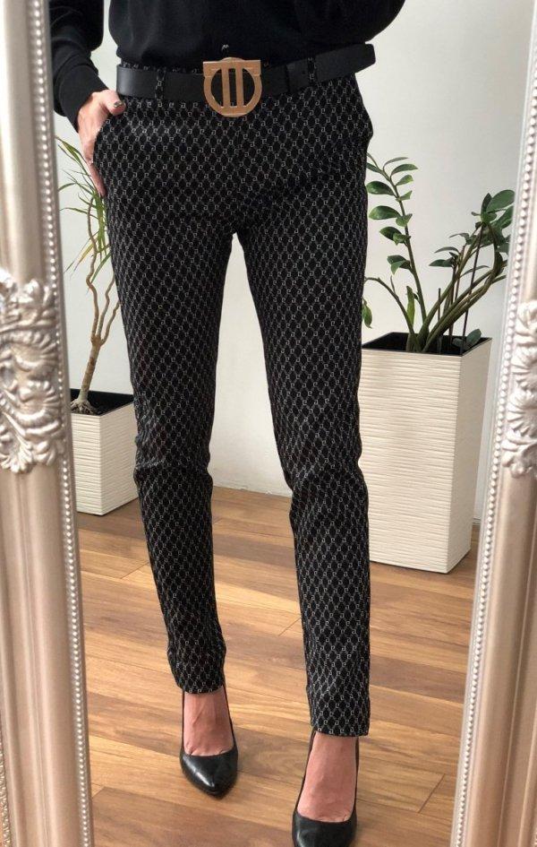 Eleganckie Spodnie Cygaretki Rurki GG